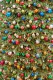 Big Christmas tree lights and decorations. In Galleria Shopping Mall, Houston, Texas. Shot vertically stock photography
