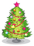 A big christmas tree with many decorations Royalty Free Stock Photo