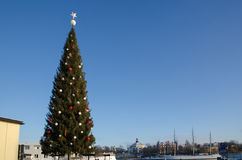 Big Christmas tree in Stockholm Stock Image