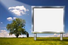 Big Chrome Billboard in the Countryside Stock Photo