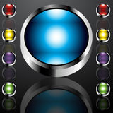 Big Chrome Buttons Stock Photo