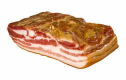 Big chunk of bacon Royalty Free Stock Photo