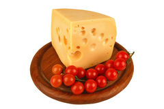 Big chunk of yellow cheese Royalty Free Stock Photos