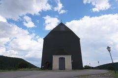 Big church on hill in Unterhoflein village Royalty Free Stock Image