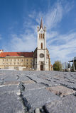 Big church in Keszthely Stock Image