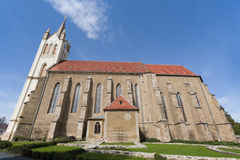 Big church in Keszthely. The parish church of Main Square in Keszthely - Hungary Stock Photography