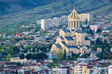 Big church in Tbilisi Stock Photos