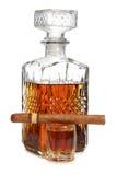 Big cigar and whiskey Stock Photo