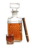 Big cigar and whiskey Royalty Free Stock Image