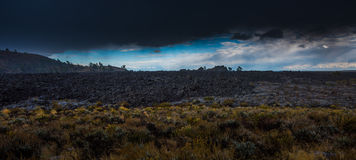 Big Cinder Butte Craters of the Moon Panorama Royalty Free Stock Photos