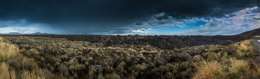 Big Cinder Butte Craters of the Moon Panorama Royalty Free Stock Image