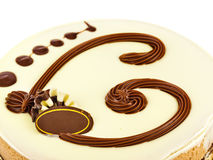 Big circle cake Stock Photo