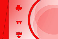 Big circle with red leaf, abstrack background Royalty Free Stock Images