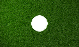 Big circular hole right side of the Grass background - 3D Rendering Stock Images