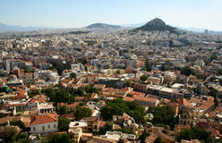 The big city. The top view on the big city, Athenes, Greece royalty free stock photography