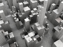 Big City 2. Symbolic render of an generic concrete jungle