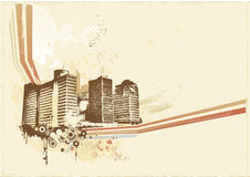 Big City. Grunge styled urban background. Vector illustration vector illustration