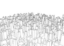 Big city architecture Stock Image