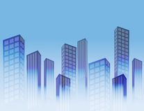 Big city background Royalty Free Stock Images