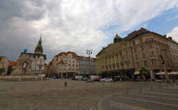 Big city Brno with Spilberk castle Royalty Free Stock Photo