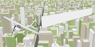 Big city with buildings Royalty Free Stock Images