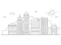 Big city business center skyscrapers megapolis Stock Images