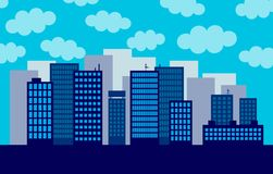 Big city. With a cloudy sky Royalty Free Stock Photos