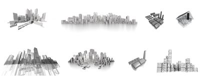Big city collection. Ready to use for designers and publishers Stock Images