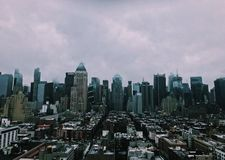 The big city an a common day stock image