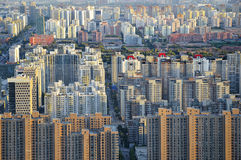 Big City. Dense buildings in Beijing, the capital of China.This ancient city is growing rapidly Royalty Free Stock Photos
