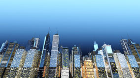 Big City. Generic urban architecture and skyscrapers forming a huge city. 3D rendered Illustration Stock Image