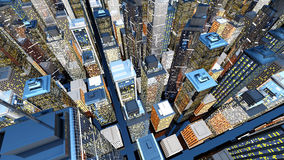 Big City. Generic urban architecture and skyscrapers forming a huge city. 3D rendered Illustration Royalty Free Stock Photos