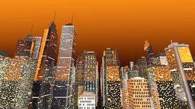 Big City. Generic urban architecture and skyscrapers forming a huge city. 3D rendered Illustration Stock Photography