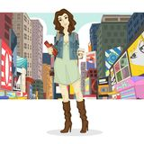 Big City Girl Stock Photography