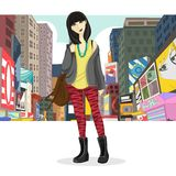 Big City Girl Royalty Free Stock Photography