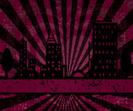 Big City - Grunge styled urban background. I Love the Big City Life grunge pink background royalty free illustration