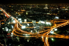 Big City Highway Interchange in Thailand Stock Images