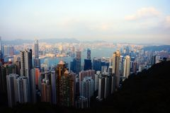 Big city Hong Kong, China stock image