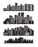 Big city icons Stock Photography