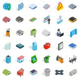 Big City Icons Set, Isometric Style Stock Image