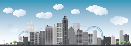 Big city illustration Stock Image