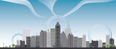 Big city illustration Stock Photo