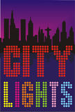 Big city lights Royalty Free Stock Images