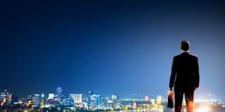 Big city never sleeps Royalty Free Stock Image