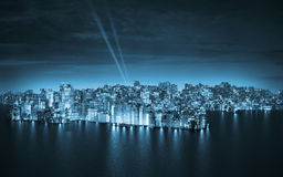 Big city by night Royalty Free Stock Photos