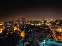 Big city night lights. Night lights of big city in Russia Stock Photo