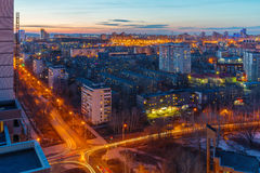 Big city at night. Big russian city at night Stock Images