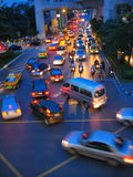 Big city night traffic Royalty Free Stock Photos