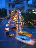 Big city night traffic Stock Photography