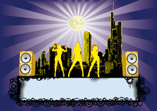 Big City Party Disco Flyer. Flyer for your party or fest Royalty Free Stock Image